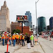 Kansas City streetcar starter line groundbreaking ceremony, May 22, 2014.