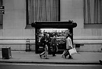 News stand Lower Manhattan New York circa 2000