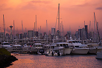 Sunset after the Storm, Elliott Bay Marina