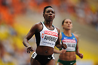 Athletics - IAAF World Championships 2013 - Stadium Loujniki , Moscow , RUSSIA - 10 to 18/08/2013 - Photo STEPHANE KEMPINAIRE / KMSP / DPPI - Day 3 - 12/08/13 -<br /> 100 m - Women - Semifinales - Muriel Ahoure (CIV)