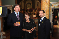 A party to promote the exclusive Puntacana Resort & Club - the Caribbean's Premier Golf & Beach Resort Destination, was held at Spencer House, London on 13th May 2010.<br /> <br /> Picture shows:-Left to right,  CARLO & LAURA DE CHAIR and FRANK ELIAS RAINIERI