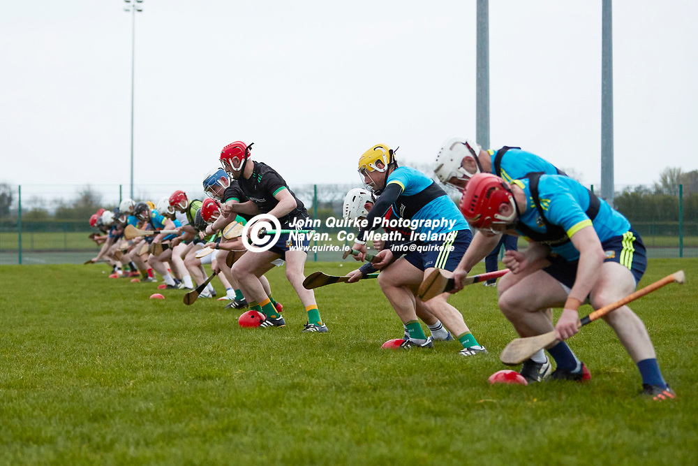 21-04-20, Meath Senior Hurling squad return to training at Dunganny<br /> Meath Hurling players pictured during a training manoeuvre<br /> Photo: David Mullen / www.quirke.ie ©John Quirke Photography, Proudstown Road Navan. Co. Meath. 046-9079044 / 087-2579454.<br /> ISO: 5000; Shutter: 1/400; Aperture: 4;