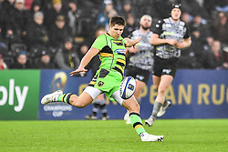 Northampton Saints' Piers Francis in action during todays match<br /> <br /> Photographer Craig Thomas/Replay Images<br /> <br /> EPCR Champions Cup Round 4 - Ospreys v Northampton Saints - Sunday 17th December 2017 - Parc y Scarlets - Llanelli<br /> <br /> World Copyright © 2017 Replay Images. All rights reserved. info@replayimages.co.uk - www.replayimages.co.uk