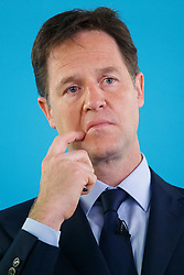 ***LNP HIGHLIGHTS OF THE WEEK 30/05/14***<br /> <br /> © Licensed to London News Pictures. 28/05/2014. LONDON, UK. Deputy Prime Minister Nick Clegg gives a speech on International Development at The Village Hall in Hoxton Square, London on Wednesday, 28 May 2014. Photo credit : Tolga Akmen/LNP