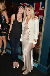 Left to right, ANNABELLE NEILSON and JO WOOD at a summer party hosted by Jo Wood & Yasmin Mills at Boujis, 43 Thurloe Street, London on 9th July 2014.