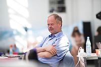 DEU, Deutschland, Germany, Berlin, 19.06.2021: Bundesparteitag der Partei DIE LINKE in den Reinbeckhallen. Wulf Gallert, Vizepräsident des Landtags von Sachsen-Anhalt.