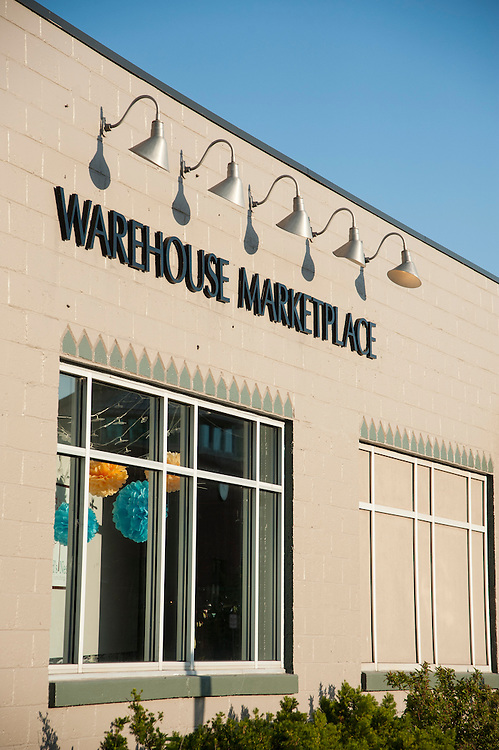 Renovated warehouse shopping areas of downtown Traverse City, Michigan.