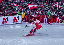 "29.01.2019, Planai, Schladming, AUT, FIS Weltcup Ski Alpin, Slalom, Herren, 2. Lauf, im Bild Marcel Hirscher (AUT) // Marcel Hirscher of Austria in action during his 2nd run of men's Slalom ""the Nightrace"" of FIS ski alpine world cup at the Planai in Schladming, Austria on 2019/01/29. EXPA Pictures © 2019, PhotoCredit: EXPA/ Stefanie Oberhauser"