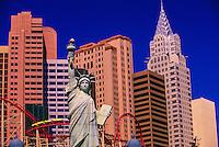 New York New York Hotel/Casino and the Manhattan Express rollercoaster, The Strip, Las Vegas Boulevard, Las Vegas, Nevada