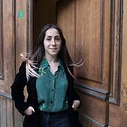 Piccolo Teatro Grassi, Milano, Italia, 3 Aprile 2021. Martina Giusti, 28 anni, studentessa di Beni Culturali.