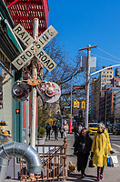NEW YORK CITY- MARCH 26, 2018 : Soho streets one of the main Manhattan Landmarks