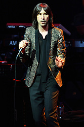 © Licensed to London News Pictures. 01/04/2016. BOBBY GILLESPIE<br /> of Primal Scream play at The London Palladium as part of their UK Tour. London, UK. Photo credit: Ray Tang/LNP