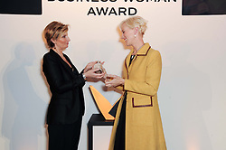 Left to right, SABINA BELLI and LAURA TENISON  at the presentation of the Veuve Clicquot Business Woman Award 2010 held at the Institute of Contemporary Arts, 12 Carlton House Terrace, London on 23rd March 2010.  The winner was Laura Tenison - Founder and Managing Director of JoJo Maman Bebe.