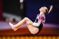 October 28, 2018 - Doha, Quatar - Mette Hulgaard of Denmark   during  Floor qualification at the Aspire Dome in Doha, Qatar, Artistic FIG Gymnastics World Championships on 28 of October 2018. (Credit Image: © Ulrik Pedersen/NurPhoto via ZUMA Press)