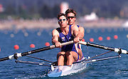 Sydney, AUSTRALIA, GBR M2-, Greg SEARLE and Ed COODE  at the Olympic Regatta, Penrith Lakes. NSW. Credit [Peter Spurrier/Intersport Images] .. 2000 Olympic Regatta Sydney International Regatta Centre (SIRC) 2000 Olympic Rowing Regatta00085138.tif