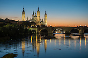 Zaragoza is the capital of northeastern Spain's Aragon region. Overlooking the Ebro River in the city center is baroque Nuestra Señora del Pilar basilica, a famous pilgrimage site with a shrine to the Virgin Mary