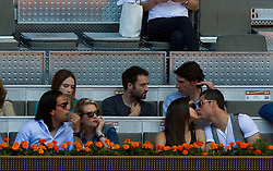 Atmosphere between the SpanishTennis player Rafael Nadal and Spanish tennis player David Ferrer tennis match during Tennis Mutua Madrid Open at Caja Magica in  Madrid, Spain.  In the Image Atletico de Madrid`s midfielder Adrian and his girlfriend.(from L)   Atletico de Madrid`s Forward Falcao and his wife. Russian  top model Irina Shaykand her boyfriend the Real Madrid¥s Forward  Ronaldo. Real MAdrid¥s defender Sergio Ramos,  May 10, 2013. Photo by: Nick D¥Sanber and A. Martinez / DyD Fotografos / i-Images..SPAIN OUT