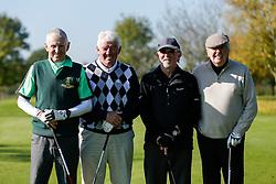 "Tom Stanton of Bristol Rovers joins the ""Bristol Irish Golf Society"" team as they take part in the Bristol Rovers charity golf day - Mandatory byline: Rogan Thomson/JMP - 07966 386802 - 12/10/2015 - GOLF - Farrington Park Golf Club - Bristol, England - Bristol Rovers Golf Day."