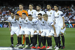 May 9, 2019 - Valencia, Valencia, Spain - Alignament of Valencia in action during UEFA Europa League football match, between Valencia and Arsenal, May 09th, in Mestalla stadium in Valencia, Spain. (Credit Image: © AFP7 via ZUMA Wire)