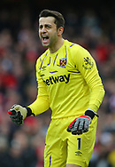 West Ham's goalkeeper Lukasz Fabianski during the Premier League match at the Emirates Stadium, London. Picture date: 7th March 2020. Picture credit should read: Paul Terry/Sportimage