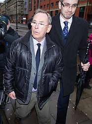 © Licensed to London News Pictures . 04/03/2014 . Manchester , UK . Former ITV Weatherman FRED TALBOT arrives for a preliminary hearing at Manchester Minshull Street Crown Court this morning (Tuesday 4th March) in relation to charges of historic sex abuse . Talbot is charged with nine counts of indecent assault and one count of sexual assault relating to his time as a biology teacher at Altrincham Grammar School for Boys and at a school in Newcastle . Photo credit : Joel Goodman/LNP