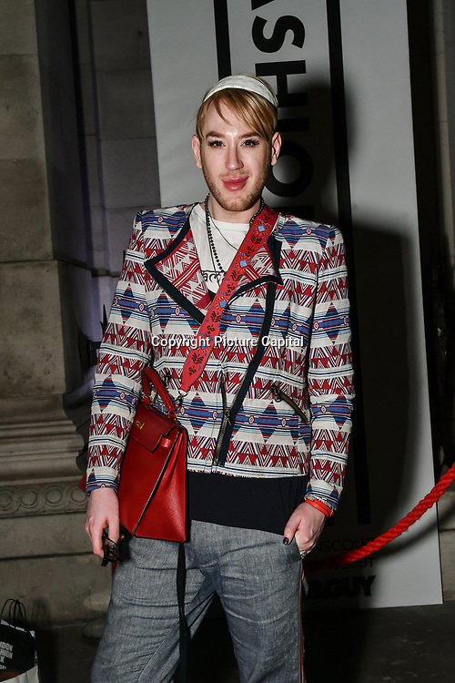 Lewis-Duncan weedon attend Fashion Scout LFW AW19 Day 1 at Freemasons' Hall, London, UK. 15 Feb 2019