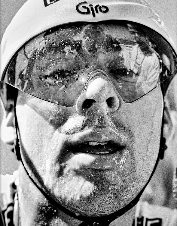 France. 05-07-1994. Photo: Patrick Post.  Portrait of an exhausted Erik Breukink after the arrival of his time trial.