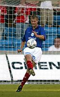 Fotball. Eliteserien 5. august 2002. Vålerenga - Brann 1-1. Knut Henry Haraldsen, VIF<br /> Foto: Andreas Fadum, Digitalsport.
