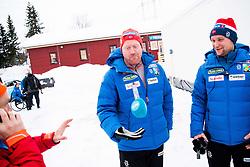January 11, 2018 - GSbu, NORWAY - 180111 Roar Hjelmeset, coach, and Sjur Ole Svarstad, coach, after the men's sprint classic technique final in the Norwegian Championship on January 11, 2018 in GÅ'sbu..Photo: Jon Olav Nesvold / BILDBYRN / kod JE / 160127 (Credit Image: © Jon Olav Nesvold/Bildbyran via ZUMA Wire)
