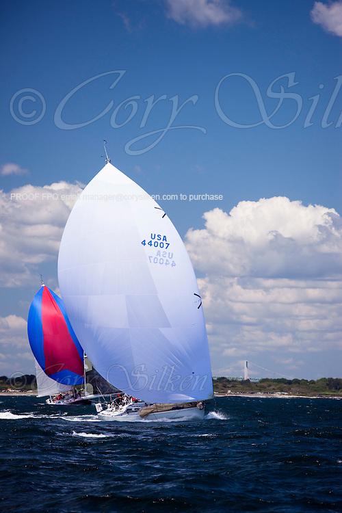 Beagle sailing at the start of the 2012 Newport Bermuda Race.