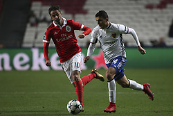 December 5, 2017 - Na - Lisbon, 05/12/2017 - Sport Lisboa e Benfica received FC Basel this evening at Estádio da Luz in the game to count for 6th day of the group stage of the Champions League 2017/2018. Jonas, Taulant Xhaka  (Credit Image: © Atlantico Press via ZUMA Wire)