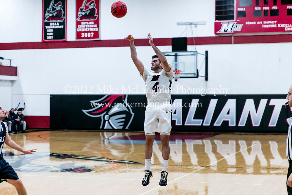 November 22, 2019 Madison, NJ<br /> Manhattanville Valiants men's basketball v. Wesley.<br /> 2019 Mike McLaughlin<br /> https://mclaughlin.photoshelter.com/<br /> Mike McLaughlin