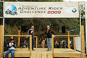 Jim Hyde with Rawhyde Adventures introduces Vice President of North America BMW Pieter de Waal at 2009 Adventure Rider Challenge.
