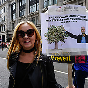 BBC Broadcasting House, London, UK, 1st July 2017. Thousands assembly at the BBC protests and rally Not one day more #ToriesOut a National Demonstration demand unconfident Tories out attack disable, Austerity, NHS School and demand Justice for Grenfell.
