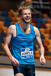 Douwe Amels in action on the high jump during AA Drink Dutch Athletics Championship Indoor on 20 February 2021 in Apeldoorn.