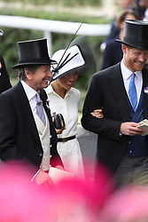 June 19, 2018 - Ascot, United Kingdom - Image licensed to i-Images Picture Agency. 19/06/2018. Ascot , United Kingdom . Royals arriving on the opening day of Royal Ascot, United Kingdom. (Credit Image: © Stephen Lock/i-Images via ZUMA Press)