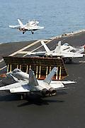 F-18s on USS Teddy Roosevelt