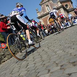 Sportfoto archief 2006-2010<br /> 2009<br /> Womensrace, peloton on the Muur van Geraardsbergen