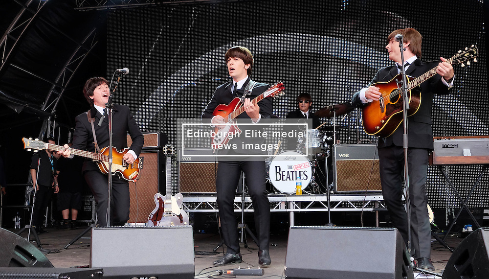 Party At The Palace, Linlithgow, Scotland, Saturday 13th August 2016<br /> <br /> The Bootleg Beatles perform on the main stage<br /> <br /> (c) Alex Todd   Edinburgh Elite media