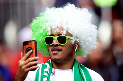 A Saudi Arabia fan in the stands ahead of the FIFA World Cup 2018, Group A match at the Luzhniki Stadium, Moscow.