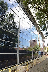 Edward P. Evans Hall at The Yale School of Management Construction Progress Photograph. 28 August 2012. North Elevation. Camera View: West-southwest.