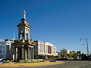 View of the Trooper's Memorial, also known as the South African War Memorial, at the corner of Dee and Tay Streets, Invercargill, New Zealand
