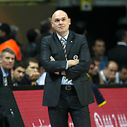 Fenerbahce Ulker's coach Neven Spahija during their Euroleague Top 16 week 3 game 3 basketball match Fenerbahce Ulker between Panathinaikos at Fenerbahce Ulker Sports Arena in Istanbul Turkey on Thursday 02 February 2012. Photo by TURKPIX