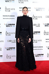 Rosamund Pike attending the A Private War Premiere as part of the BFI London Film Festival at the Cineworld Cinema in London.