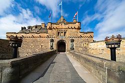 Entrance gate to Edinburgh Castle, Scotland, UK