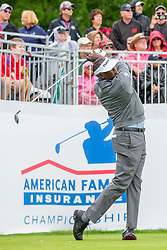 June 22, 2018 - Madison, WI, U.S. - MADISON, WI - JUNE 22: Vijay Singh tees off on the first tee during the American Family Insurance Championship Champions Tour golf tournament on June 22, 2018 at University Ridge Golf Course in Madison, WI. (Photo by Lawrence Iles/Icon Sportswire) (Credit Image: © Lawrence Iles/Icon SMI via ZUMA Press)