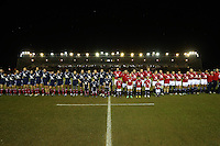 Rugby Union - 2012 Rugby Legends Match - British & Irish Legends vs. French Legends.The teams line up before the match at Twickenham Stoop, London