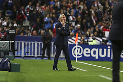 October 10, 2017 - Paris, France - France coach Didier Deschamps  during the Fifa 2018 World Cup qualifying match between France and Belarus on October 10, 2017 in Paris, France. (Credit Image: © Elyxandro Cegarra/NurPhoto via ZUMA Press)