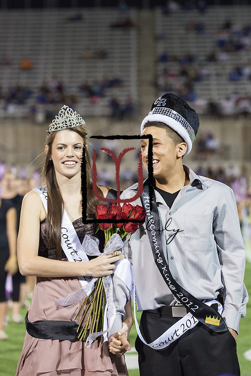 Heather McDonald and Cesar Martinez were crowned homecoming queen and king at halftime.
