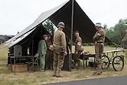USA, Oregon, Astoria, Ft. Stevens State Park, 113th Cavalry, WWII living history encapment.